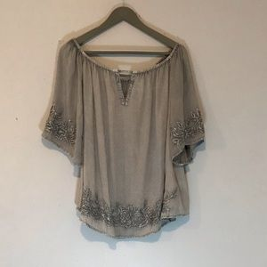 Solitaire 3/4 sleeve blouse